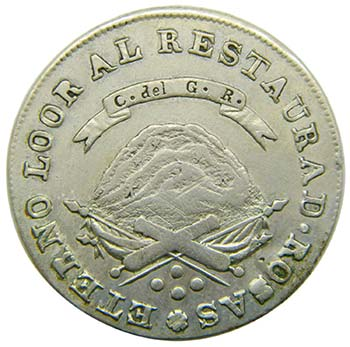 Argentina. 4 reales. 1850 RB. ...
