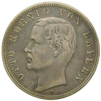 Alemania. Bayern. 5 Mark 1898 D.  ...