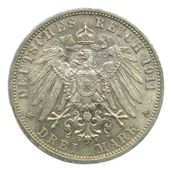 Alemania. Prussia. 3 marcos. 1911 ...