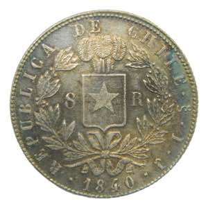 Chile 8 Reales 1840 So ...